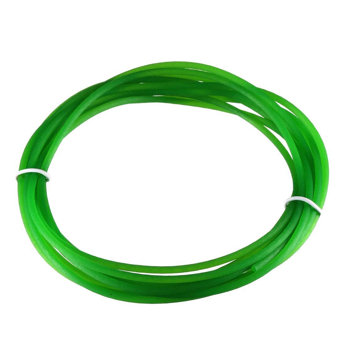 uxcell 10ft 2mm PU Transmission Round Belt High-Performance Urethane Belting Green for Conveyor Bonding Machine Dryer