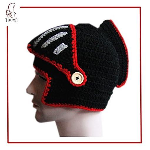 d877184f554 JennyShop Roman Knight Helmet Visor Cosplay Knit Beanie Vinking Hat Cap  Wind Mask