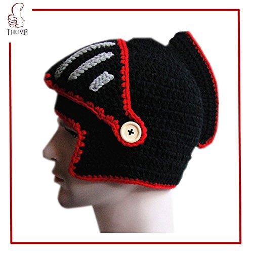 Jenny Shop Roman Knight Helmet Visor Cosplay Knit Beanie Vinking Hat Cap Wind Mask, (Small 2007 Calendar)