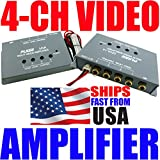 1 to 4 Video Amplifier Car DVD Distribution RCA