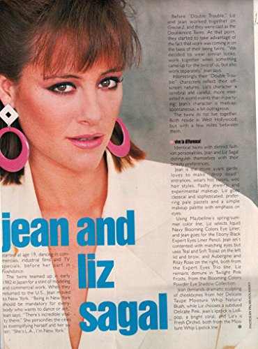 Liz Sagal ad original clipping magazine photo 1pg 8x10 #Q8421