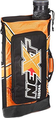 Rucksack f. Bogensport, Recurvebogen Tasche Aurora Next archery bag, Bopgenschießen schwarz/orange