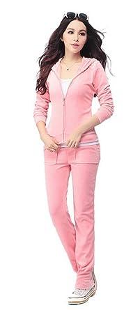 Aivtalk Women S Velour Hoodie Pant Tracksuit Sport Sweat Suit Set At