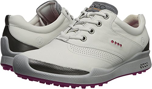 ECCO Women's Biom Hybrid Golf Shoe, White/Candy, 37 M EU (6-6.5 US)