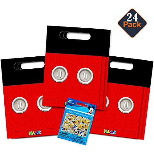 Mickey Mouse Goodie Bags (Disney Mickey Mouse Clubhouse Treat Bags -- 24 Mickey Mouse Party Favors Bags (24 Ct, Party)