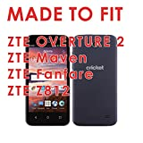Strawberries - Mobiflare ZTE Overture 2 / Maven / Fanfare Z812 Slim Guard Armor Black Phone Case