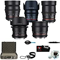 ROKINON CINE DS Full Cinema Lens Kit for Sony NEX: 14mm, 24mm, 35mm, 50mm, 85mm, and Hard Carry Case