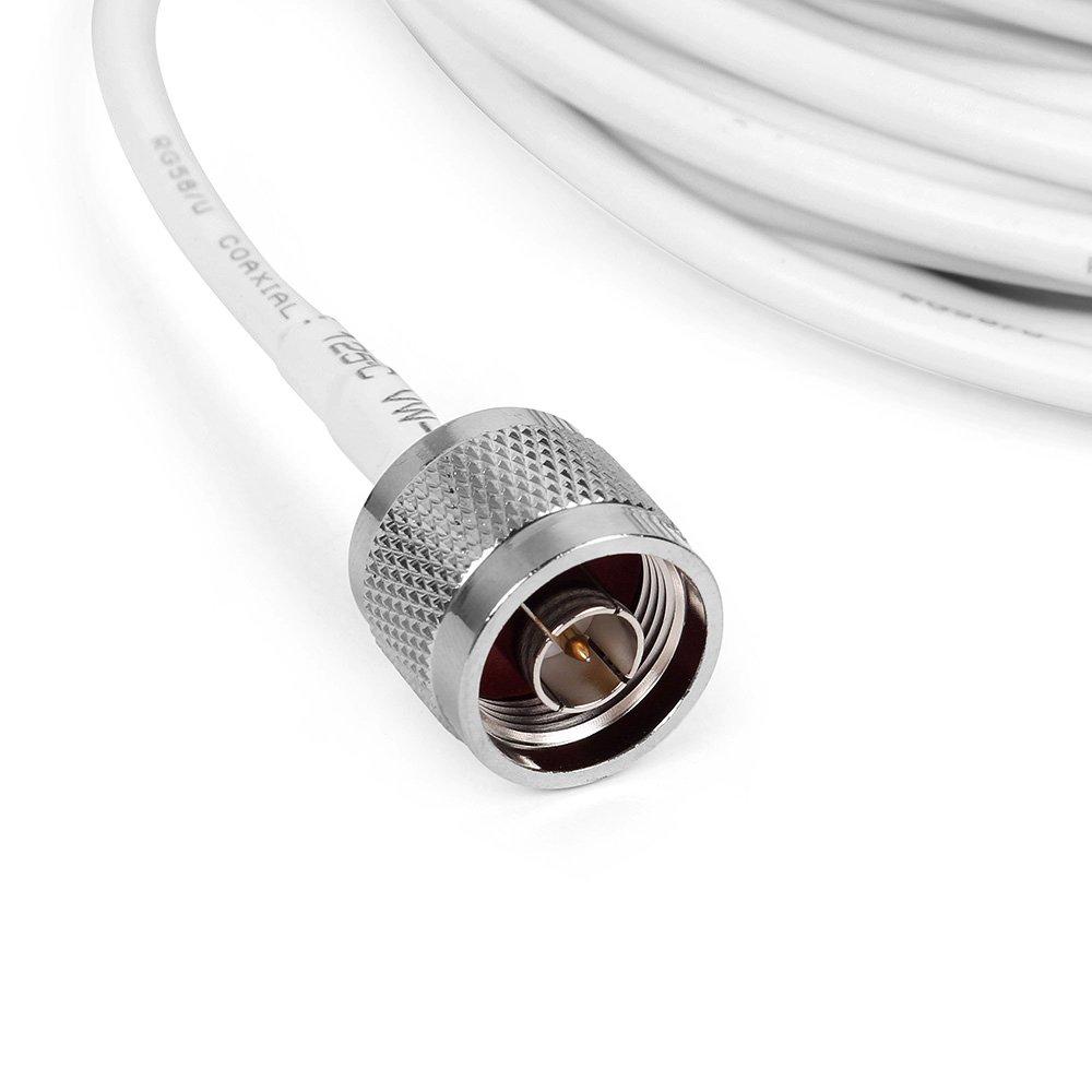 Phonetone Antena Yagi de 7 Unidades 3G 12dBi Yagi Exterior Antena con 10m RG58 Cable N-Macho Conector para Se/ñal Amplificador de tel/éfono