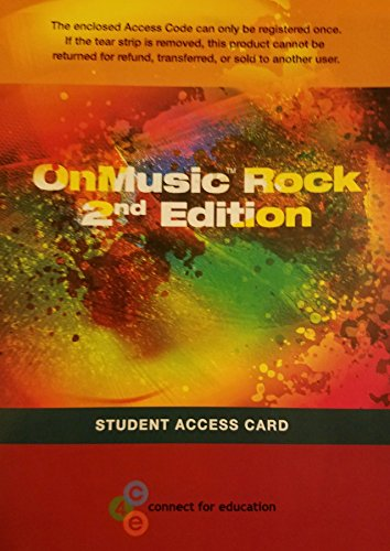 OnMusic Rock Student Access Card