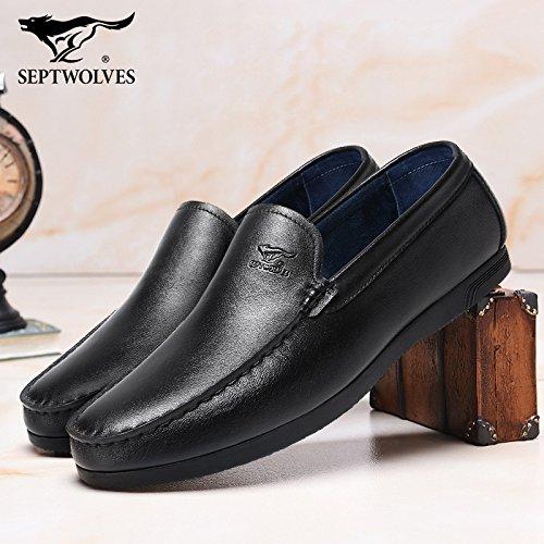 Aemember Scarpe Uomo i fagioli di soia scarpe mettere piede a calci Peddling Lazy ossa Scarpe Casual calzino uomini e ,44, nero