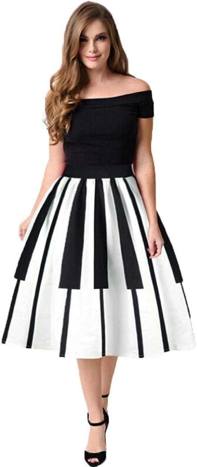 Adelina Señoras Teclas De Piano Faldas Vestido Enagua Enagua 50S ...