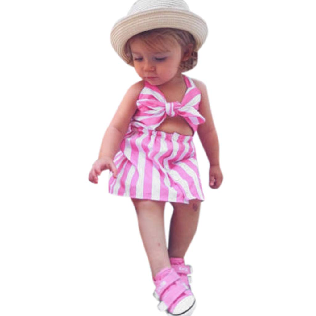EnjoCho Family Dress,Summer Mother Daughter Dresses Striped 2019 Family Matching Clothes Age:12-18 Months, Kids
