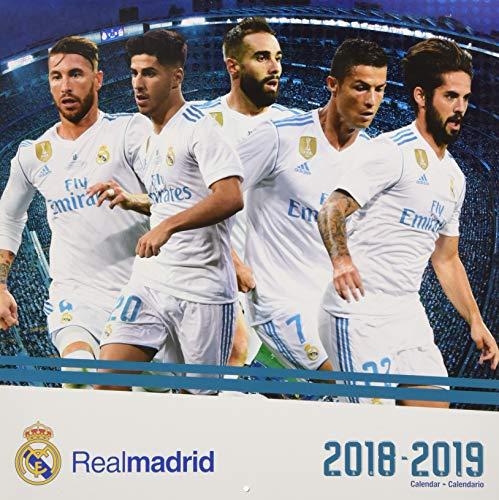 Real Madrid 17meses calendario de 2019(Inglés y Español Edición)