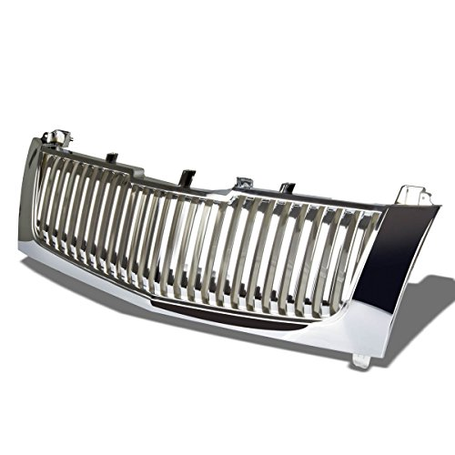 Cadillac Escalade ESV EXT ABS Plastic OEM Vertical Style Front Grille (Chrome) (Cadillac Escalade Ext Pickup)
