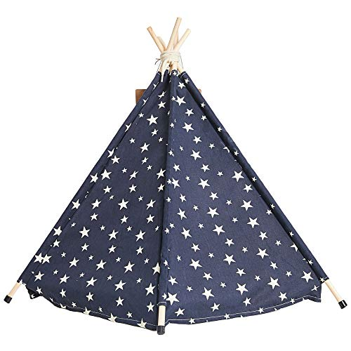 Arkmiido Pet Teepee Dog & Cat Bed with Cushion- Luxery Dog Tents & Pet Houses with Cushion & Blackboard