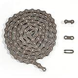 ZHIQIU FSC F410 1-Speed Bike Chains Single (1/2 x 1/8-Inch, 104L) (Brown)