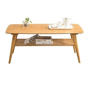 LXDDB Mesas Muebles de café Bambú Natural Sala de Estar ...