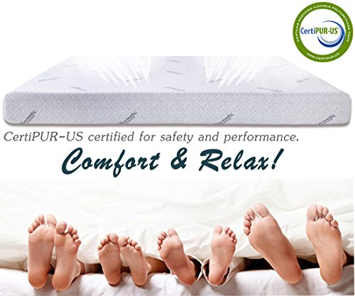 Cr 10 Inch Memory Foam Mattress with Bamboo Charcoal AirCell Technology, Twin by Cr (Image #6)