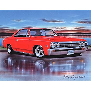 Amazon Com 1965 Pontiac Gto Hardtop Muscle Car Art Print Red 11x14
