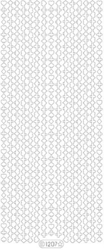 (Ecstasy Crafts Starform Sticker Border Playing Card Shapes -Glitter Silver)