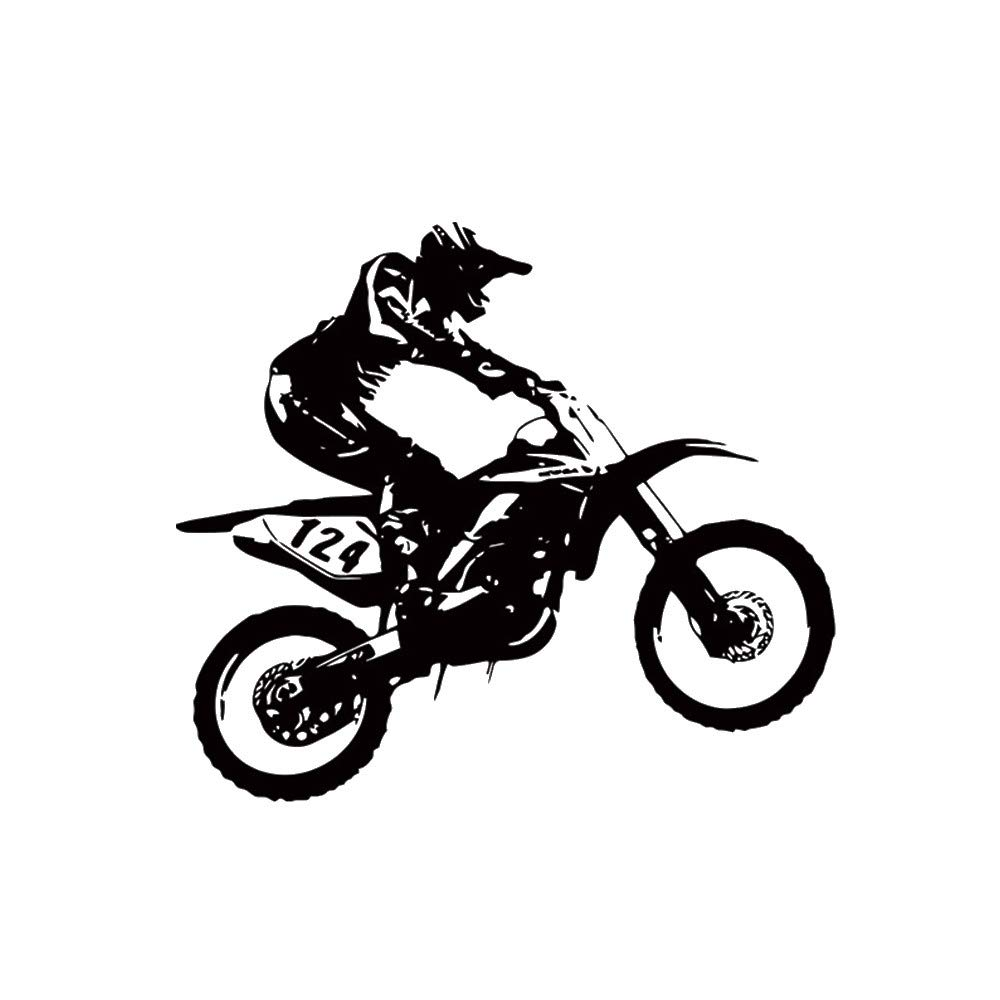 FimKaul Wall Decals Boys Jump Bike Motocross Motorcycle Moto Freestyle Extreme Sports Nursery Kids Gift Decal Murals 20.923.6In (A)