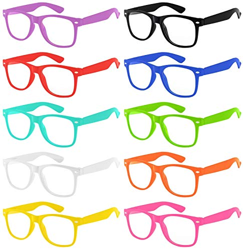 Wholesale 10 Pack Classic Vintage Clear Lens Sunglasses Colored -