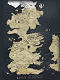 Game Of Thrones 60 X 80 Cm Map Canvas By Game Of Thrones