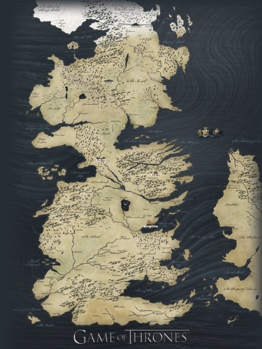 Game Of Thrones 60 X 80 Cm Map Canvas By Game Of Thrones by pyramid international