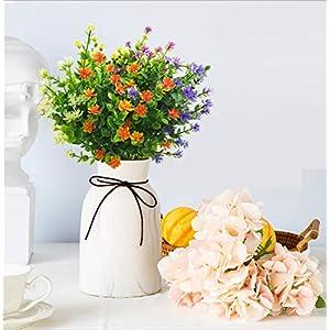 LUCKY SNAIL Artificial Flowers, Fake Outdoor UV Resistant Boxwood Shrubs Plants, Lifelike Plastic Flowers for Indoor Outdoors Home Office Garden Wedding Sidewalk Trim Decor,5 Pcs(Mixture) 5