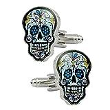 High end men's cool colored Skull modeling bullet cufflink, unique fashion design