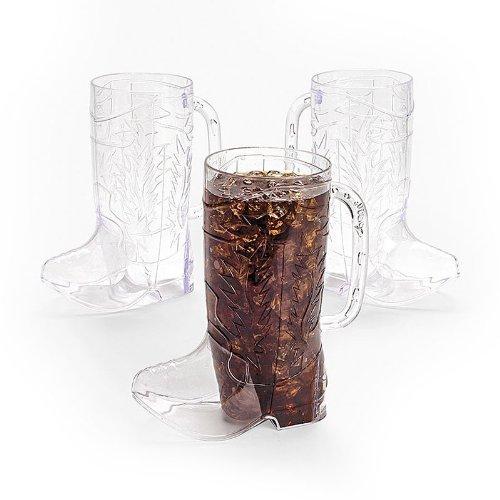 Clear Plastic Cowboy Boot Mugs (1 (Boot Mug)