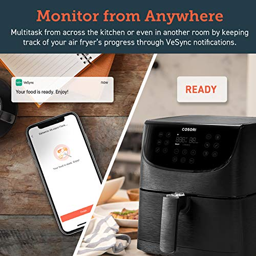 COSORI Smart WiFi Air Fryer(100 Recipes), 13 Cooking Functions, Keep Warm & Preheat & Shake Remind, Works with Alexa…