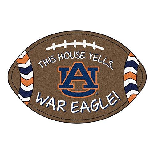 NCAA Auburn University Tigers Football Shaped Mat Area Rug