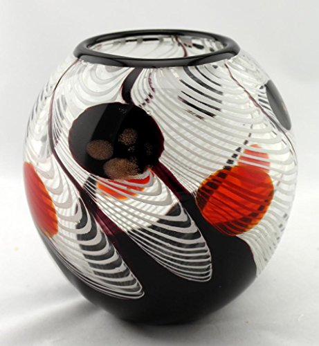 6 Quot Hand Blown Glass Murano Art Style Vase Bowl Candle
