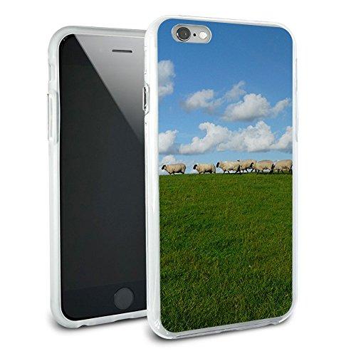 Flock of Sheep–Counting Hybrid Rubber Schutz Hülle Slim Case Cover Etui Bumper für Apple iPhone 6Plus