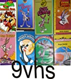 bugs bunny pack- 9 volume set : bugs buunny vol 1, bugs bonny, stars of space jam, bugs boony vol 2, bugs bunny, Bugs Bunny Came To Supper , bugs bunny all this and rabbit stew, Warner Brothers Golden Jubilee 24 Karat Collection Sylvester & Tweety's Crazy Capers