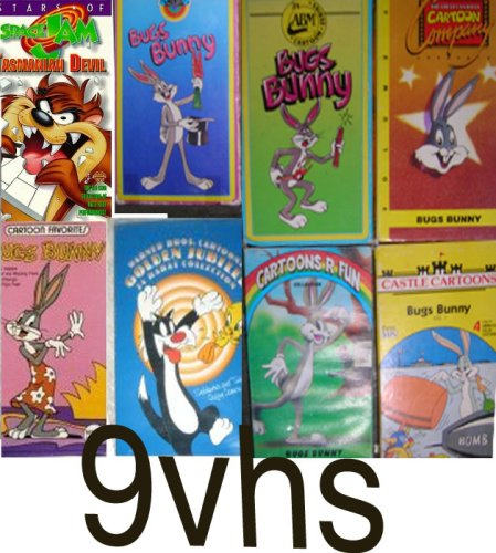 bugs bunny pack- 9 volume set : bugs buunny vol 1, bugs bonny, stars of space jam, bugs boony vol 2, bugs bunny, Bugs Bunny Came To Supper , bugs bunny all this and rabbit stew, Warner Brothers Golden Jubilee 24 Karat Collection Sylvester & Tweety