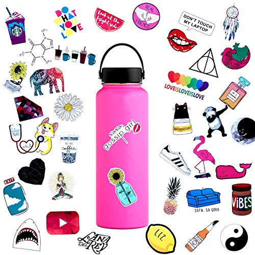 For Sale! 45pcs Water Bottle Sticker Decals Waterproof,Cute Bumper and Laptop Stickers for Girls,Com...