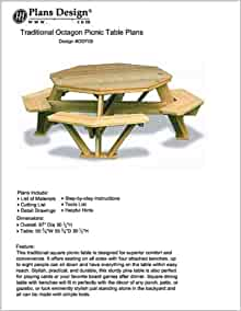 Traditional octagon picnic table plans pattern how to for Octagon picnic table blueprints