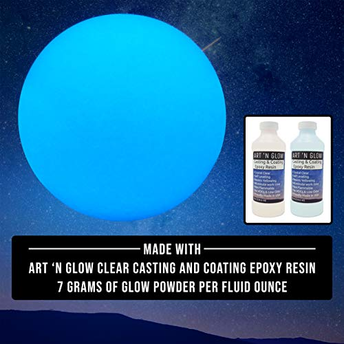 Glow in The Dark Pigment Powder - 12g - Neutral and Fluorescent Colors (Neutral Sky Blue) - 10+ Colors Available