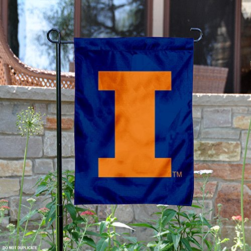 Illinois Fighting Illini Nylon Embroidered Garden ()
