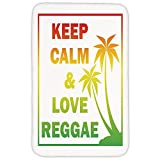 Rectangular Area Rug Mat Rug,Rasta,Keep Calm and Love Reggae Quote in Ombre Rainbow Colors Music Themed Decorative,Light Green Red and Yellow,Home Decor Mat with Non Slip Backing