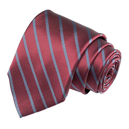 - diig Dress Shirt for Men - Slim Regular Fit Work Shirt, White Red Blue XS M 2 XL (Tie/Maroon+Grey, 57.9 inches)