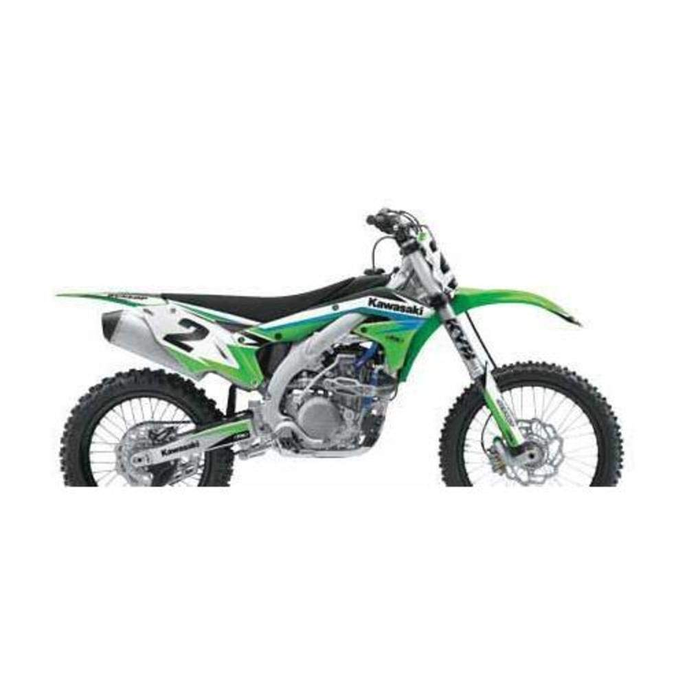 Factory Effex 2017 Rockstar Shroud Graphic Kit Kawasaki for 06-08 Kawasaki KX450F