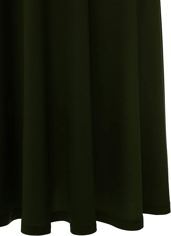YOYAKER Abito da Sera Rockabilly da Donna con Maniche Corte Girocollo in Pizzo Vintage Elegante da Donna
