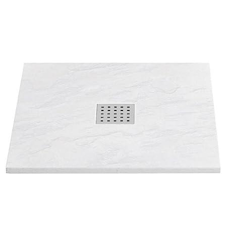 Home Standard/® Mode 1200mm x 900mm Graphite Slate Effect Rectangular Shower Tray /& Chrome Integrated Waste
