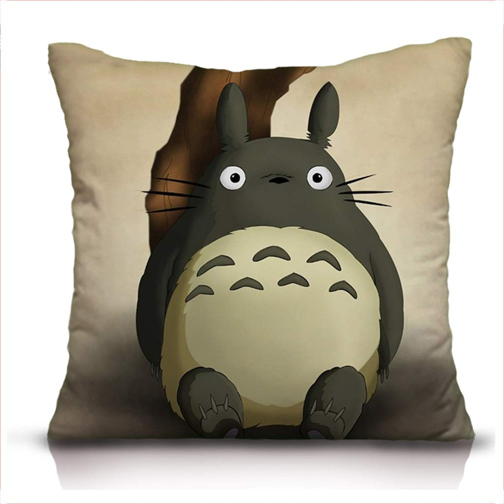 ZDNALS Double-Sided Printed Pillow Anime Chinchilla Pillow Sofa Cushion Multi-Color and Multi-Size Optional Pillow (Color : J, Size : 60cm×60cm)
