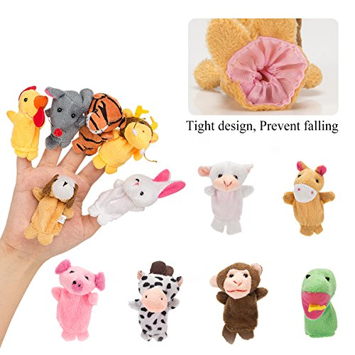 Biubee 28 PCS Finger Puppets Animal family Fruit Toys for Toddlers Kids Adults - 12 Farm Animals + 6 Family Members + 10 Fruits for Story Telling, Role Play, Great Novelty Educational Toys Set by Biubee (Image #4)