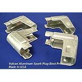 Vulcan Aluminum Heat Shield 90° Spark Plug Boot Protectors 4 Per Pkg