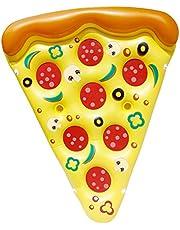 JOYIN Giant opblaasbare pizza Slice zwembad Float, leuke zwembadflops, zwemfeestspeelgoed, zomer zwembad vlot (1 pack), extra groot met bekerhouders